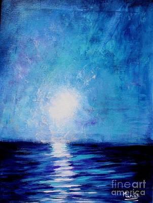 Mike Grubb Wall Art - Painting - Moonlight Sea by Michael Grubb