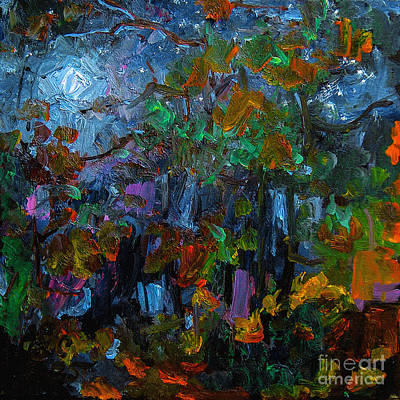 Painting - Moonlight Through The Pines by Ginette Callaway