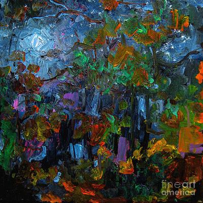 Moonlight Through The Pines Art Print