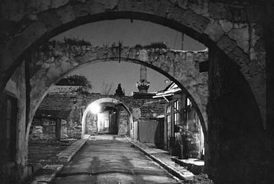 Archetype Photograph - Moonlight View Of Market Street, Odos by W. Robert Moore
