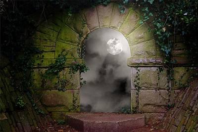 Moonlight Window Art Print