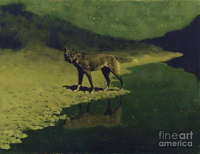 Painting - Moonlight Wolf by Roberto Prusso