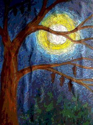 Moonlit Mixed Media - Moonlit Night by Sudipta Basak