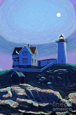 Moonlit Nubble Original by Earl Jackson