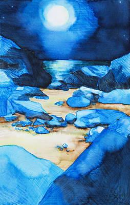 Intense Painting - Moonlit Path by Tara Thelen