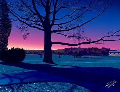 Moonlit Scene Art Print