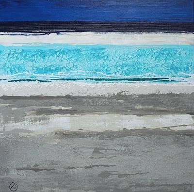 Painting - Moonlit Seascape by Elizabeth Langreiter