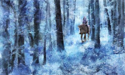 Digital Art - Moonlit Woods Trail by Francesa Miller