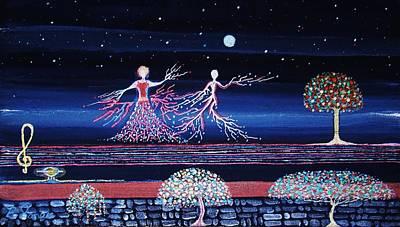 Moonlove Dance Print by Farshad Sanaee The Apple