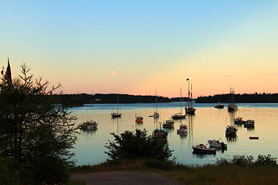 Photograph - Moonrise At Burnt Coat Harbor by Doug Mills