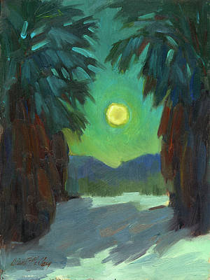Country Scenes Painting - Moonrise by Diane McClary