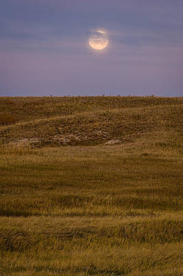 Moonrise Over Badlands South Dakota Original