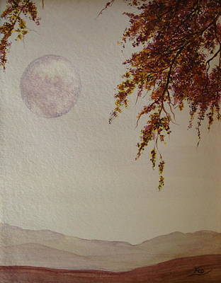 Painting - Moonscape by Flo Markowitz