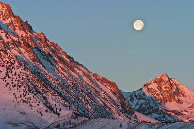 Moonset From The Buttermilks Art Print by Donald E. Hall