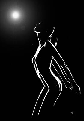 Body Scape Digital Art - Moonstruck by Steve K