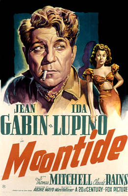 1942 Movies Photograph - Moontide, Jean Gabin, Ida Lupino, 1942 by Everett