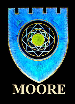 Painting - Moore Family Crest by Ahonu