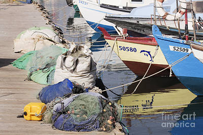 Moored Fishing Boats Art Print by Jeremy Woodhouse