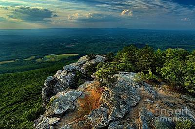Photograph - Moore's Knob Sunset by Adam Jewell