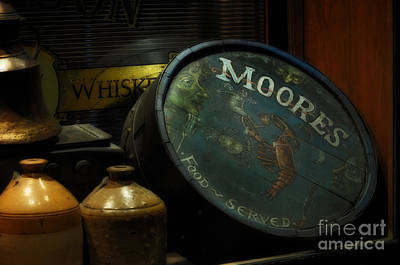 Moore's Tavern After Closing Art Print by Mary Machare