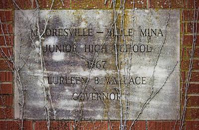 Mooresville - Belle Mina Junior High School 1967 Art Print by Kathy Clark