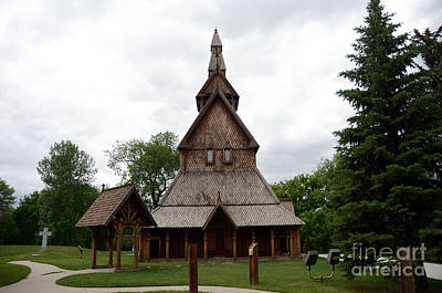 Photograph - Moorhead Stave Church 1 by Cassie Marie Photography