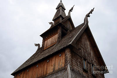 Photograph - Moorhead Stave Church 11 by Cassie Marie Photography
