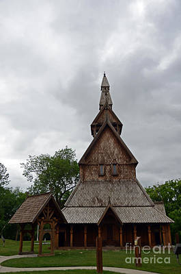 Photograph - Moorhead Stave Church 2 by Cassie Marie Photography