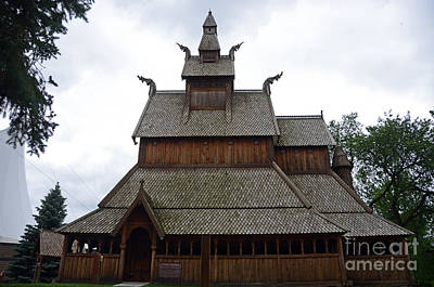 Photograph - Moorhead Stave Church 5 by Cassie Marie Photography