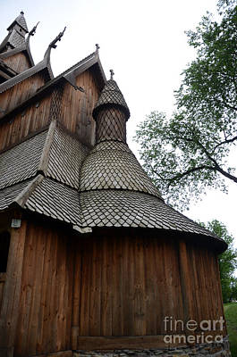 Photograph - Moorhead Stave Church 6  by Cassie Marie Photography