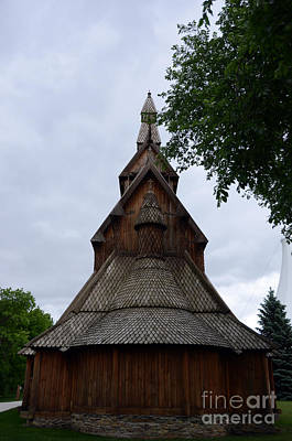 Photograph - Moorhead Stave Church 7 by Cassie Marie Photography