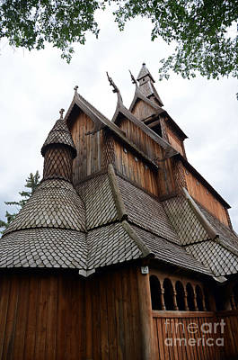 Photograph - Moorhead Stave Church 8 by Cassie Marie Photography