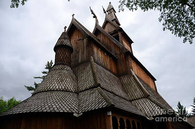 Photograph - Moorhead Stave Church 9 by Cassie Marie Photography