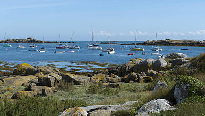 Photograph - Moorings Iles Chausey by Gary Eason