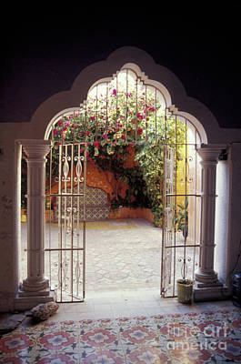 Photograph - Moorish Doorway Campeche Mexico by John  Mitchell