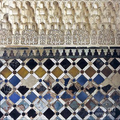 Heiko Koehrerwagner Photograph - Moorish Wall Mosaic by Heiko Koehrer-Wagner