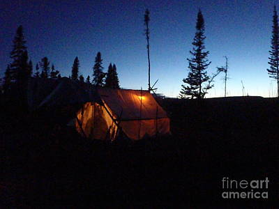 Photograph - Moose Camp At Sunset by Adam Owen