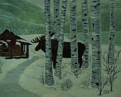 St Barbara Painting - Moose Lake by Barbara St Jean