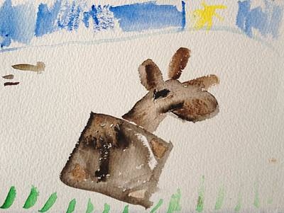Painting - Moose by My Daughter