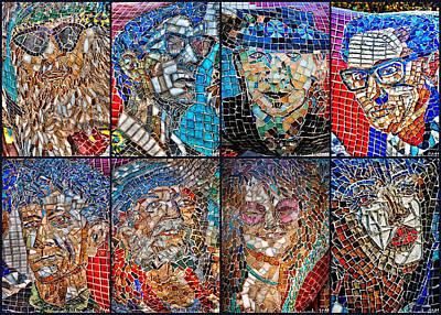 Mitch Brookman Glass Art - Moosicians by Mitch Brookman
