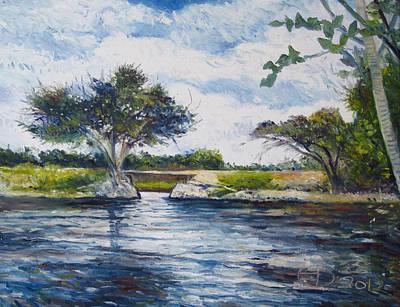 Mopani Bridge Maun Botswana Art Print by Enver Larney