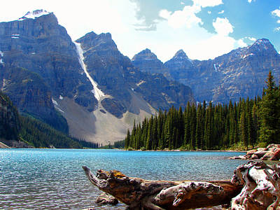 Mixed Media - Moraine Lake Banff National Park Alberta by Bruce Ritchie