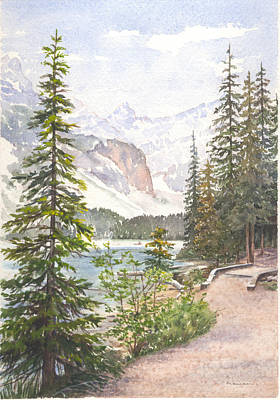 Painting - Moraine Lake by Maureen Carter