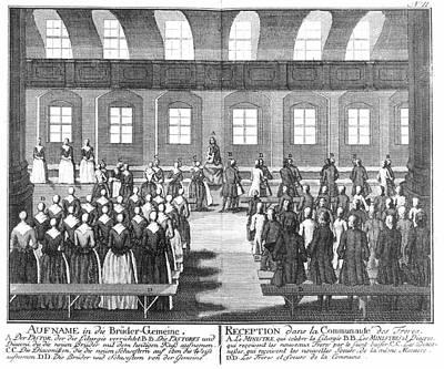 Moravians, 1757 Art Print by Granger
