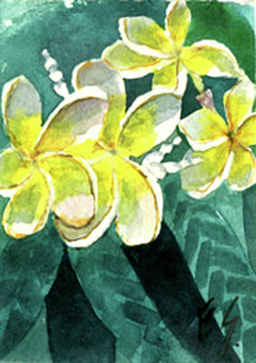 Painting - More Plumeria by Eric Samuelson