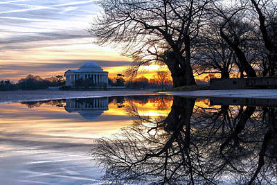Jefferson Memorial Wall Art - Photograph - More Than Gold by Mitch Cat