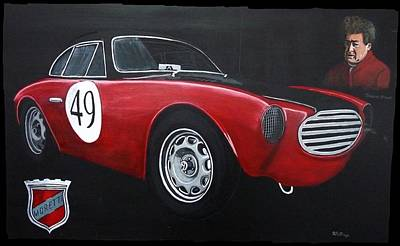 Painting - Moretti 750 Gran Sport by Richard Le Page