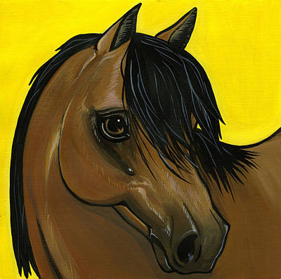 Morgan Horse Painting - Morgan by Leanne Wilkes