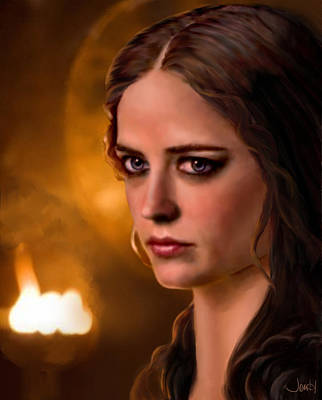 Morgan Pendragon Eva Green Art Print by Jennifer Hickey