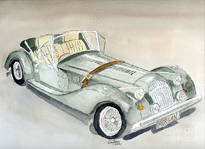 Sports Paintings - Morgan Sports Car by Eva Ason